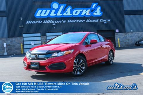 Certified Pre-Owned 2015 Honda Civic EX Coupe - NEW TIRES! Sunroof, Rear Spoiler, Heated Seats, Bluetooth, Rear Camera, Alloys and more!