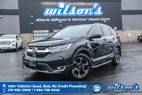 Certified Pre-Owned 2017 Honda CR-V Touring AWD, Leather, Navigation, Sunroof, New Tires, Heated Steering, Lane Departure Warning