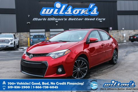 Certified Pre-Owned 2015 Toyota Corolla S, 6 Speed, Sunroof, Leather-Trim, Heated Seats, Rear Camera, Keyless Entry, Alloy Wheels and more!