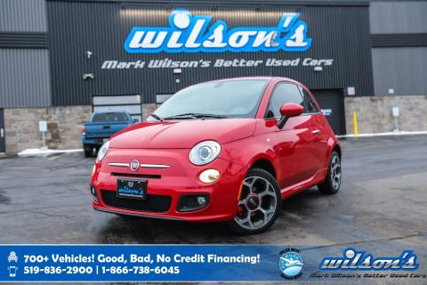 "Certified Pre-Owned 2016 FIAT 500 Sport, 5"" Touchscreen, Leather Trim, Bluetooth, Rear Mirror w/Microphone & Much More!"