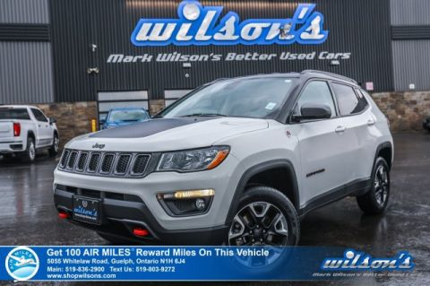 Certified Pre-Owned 2018 Jeep Compass Trailhawk 4x4 - Leather Trim, Navigation, Heated Steering + Seats, Remote Start, Pwr Seat + Liftgate
