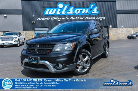 "Certified Pre-Owned 2016 Dodge Journey Crossroad V6 - 7 Passenger, Leather, Navigation, Sunroof, Rear Camera, Bluetooth, 19"" Alloys"