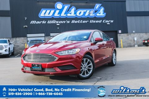 Certified Pre-Owned 2017 Ford Fusion SE, Rear Camera, Bluetooth, New Tires, Keyless Entry, Cruise Control, Alloy Wheels and more!