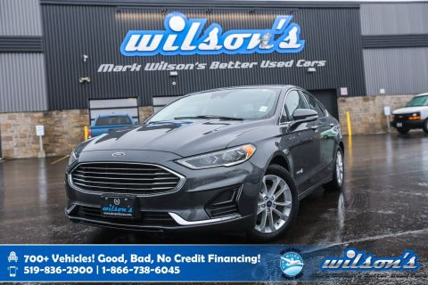Certified Pre-Owned 2019 Ford Fusion Hybrid SEL, Sunroof, Leatherette, Navigation, Blindspot with Cross Traffic Alert, Power Seat and more!