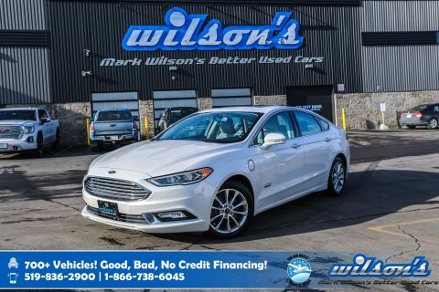Certified Pre-Owned 2017 Ford Fusion Energi SE Luxury, Leather, Navigation, Panoramic Sunroof, Heated Seats, Rear Camera, Remote Start and more!