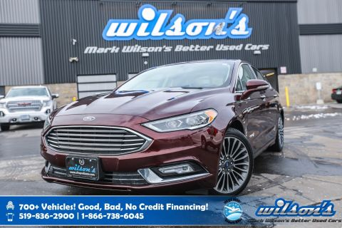 Certified Pre-Owned 2018 Ford Fusion Hybrid Titanium, Leather, Sunroof, Navigation, Power Seat, Heated Seats + Steering, Bluetooth and more!