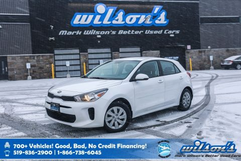 Certified Pre-Owned 2019 Kia Rio 5-door LX+ Hatchback, Heated Steering + Seats, Rear Camera, Bluetooth and more!