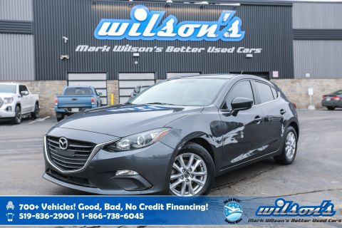 Certified Pre-Owned 2016 Mazda3 GS, 6 Speed, Bluetooth, Rear Camera, New Tires, Heated Seats, Alloys, Cruise Control and more!