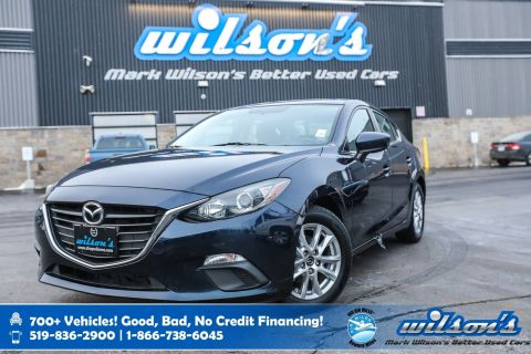 Certified Pre-Owned 2015 Mazda3 GS, Rear Camera, Heated Seats, New Tires, Intelligent Key, Alloy Wheels and more!
