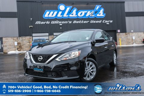 Certified Pre-Owned 2019 Nissan Sentra SV, Sunroof, Heated Seats, NissanConnect, Bluetooth, Rear Camera, Alloy Wheels and more!