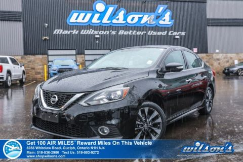 Certified Pre-Owned 2016 Nissan Sentra SR - Navigation, Leather, Sunroof, Heated Seats, Blindspot Monitor, Intelligent Key, Alloys & More!