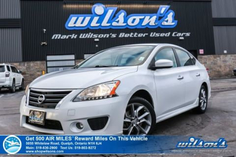 Certified Pre-Owned 2013 Nissan Sentra SR - Bluetooth, Rear Spoiler, Steering Radio Controls, Push Start, New Tires & More!