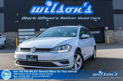 Certified Pre-Owned 2018 Volkswagen Golf Sportswagon Trendline AWD - Heated Seats, Bluetooth, Rear Camera and Alloy Wheels