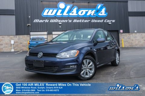 Certified Pre-Owned 2015 Volkswagen Golf Comfortline - Leather, Sunroof, Rear Camera, Bluetooth, Heated Seats + Power Seats