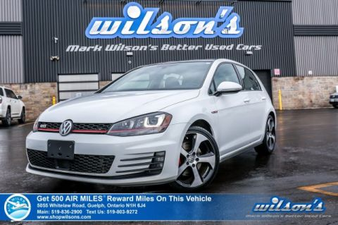 Certified Pre-Owned 2015 Volkswagen Golf GTI Autobahn Hatchback DSG!- NEW TIRES! Navigation, Sunroof, Rear Camera, Collision Warning