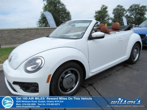 Certified Pre-Owned 2017 Volkswagen Beetle Convertible Classic-LOW KM! Leather, Rear Camera, Heated Seats,Cruise Control and more!