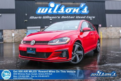 "Certified Pre-Owned 2018 Volkswagen Golf GTI Manual - 6 Speed! Leather, Navigation, Sunroof, Adaptive Cruise Control, 18"" Alloys and more!"