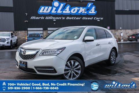 Certified Pre-Owned 2016 Acura MDX AWD, Navigation, Leather, Sunroof, Heated Seats + Steering, Bluetooth, Rear Camera and more!