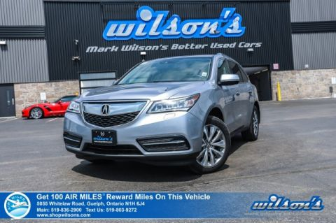 Certified Pre-Owned 2016 Acura MDX AWD - Leather, Navigation, Sunroof, Heated + Power Seats, Bluetooth, Rear Camera, Alloy Wheels