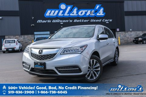 Certified Pre-Owned 2015 Acura MDX SH AWD - NEW TIRES! Leather, Sunroof, Navigation, Bluetooth, Rear Cam, Blind Spot Alert