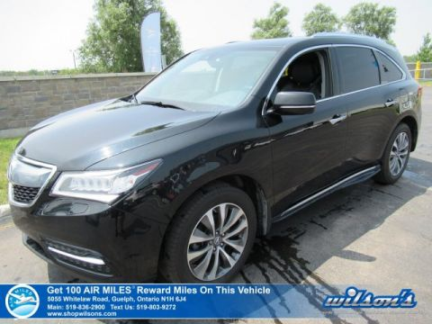 Certified Pre-Owned 2016 Acura MDX Tech Pkg AWD - NEW TIRES! Navigation, DVD, Leather, Sunroof, Running Boards, Rear Camera & more!