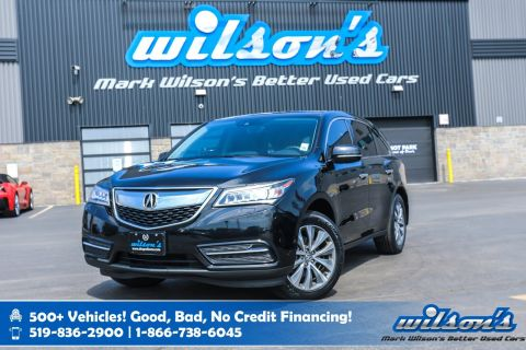 Certified Pre-Owned 2016 Acura MDX Tech Pkg AWD - NEW TIRES! Navigation, DVD, Leather, Sunroof, Rear Camera, Bluetooth and more!