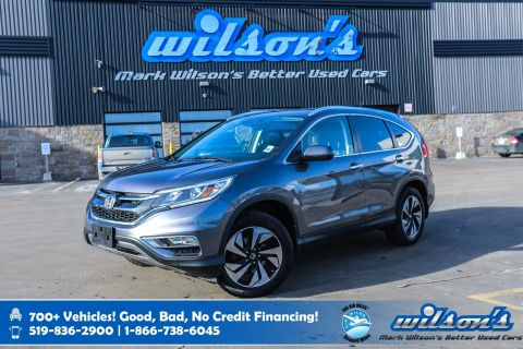 Certified Pre-Owned 2015 Honda CR-V Touring AWD, Leather, Navigation, Sunroof, Rear Camera, Bluetooth, Blindspot Camera and more!