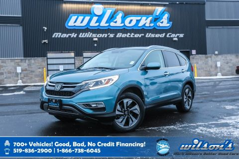 Certified Pre-Owned 2015 Honda CR-V Touring AWD, Leather, Navigation, Sunroof, New Tires, Heated Seats, Rear Camera, Bluetooth and more!