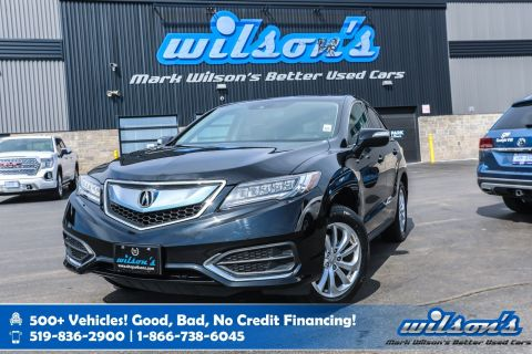 "Certified Pre-Owned 2017 Acura RDX AWD with New Tires! Leather, Sunroof, Rear Camera, Bluetooth, Heated + Memory Seats, 18"" Alloys"