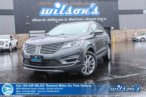 Certified Pre-Owned 2017 Lincoln MKC Select AWD - Leather, Navigation. Blindspot Monitor, Heated Seats and more!