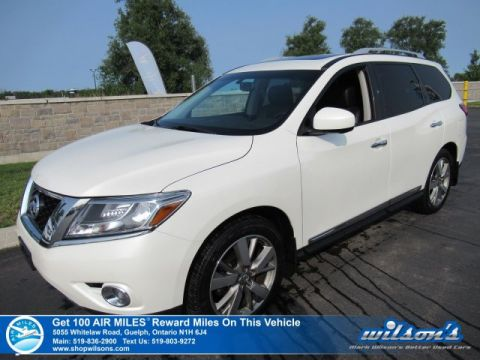 Certified Pre-Owned 2015 Nissan Pathfinder Platinum 4X4 - Leather, Sunroof, Navigation, 3rd Row Seats, 360 Camera, Bluetooth and more!