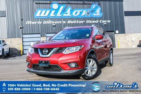Certified Pre-Owned 2016 Nissan Rogue SV AWD, Navigation, Sunroof, Power Seat, Heated Seats, Bluetooth, Rear Camera and more!