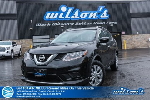 Certified Pre-Owned 2015 Nissan Rogue S - Rear Camera, Bluetooth, Roof Rails, Cruise Control, Power Package and more!