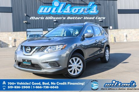 Certified Pre-Owned 2016 Nissan Rogue S, Rear Camera, Bluetooth, New Tires, Keyless Entry, Cruise Control and more!
