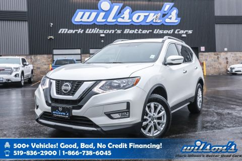 Certified Pre-Owned 2018 Nissan Rogue SV AWD Used, Sunroof, Heated Seats, Bluetooth, Reverse Camera, Alloy Wheels and more!