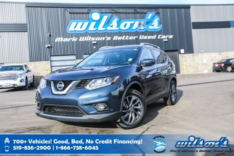 Certified Pre-Owned 2016 Nissan Rogue SL AWD, Leather, Navigation, Sunroof, Heated + Power Seats, Rear Camera, Bluetooth, Alloys and more
