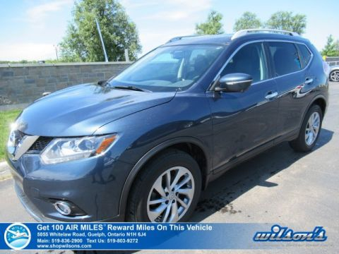Certified Pre-Owned 2015 Nissan Rogue SL - Leather, Sunroof, Navigation, Bluetooth, Power Seats + Liftgate, Blind Spot Alert, and more!