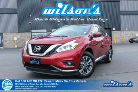 Certified Pre-Owned 2016 Nissan Murano S - Navigation, Sunroof, Rear Camera, Bluetooth, Heated Seats + Wheel, Push Start, Alloys and more!