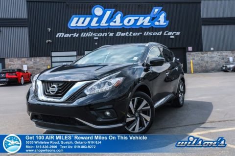 Certified Pre-Owned 2016 Nissan Murano Platinum AWD - Leather, Navigation, Panoramic Sunroof, 360 Camera, Power + Heated Seats and more!