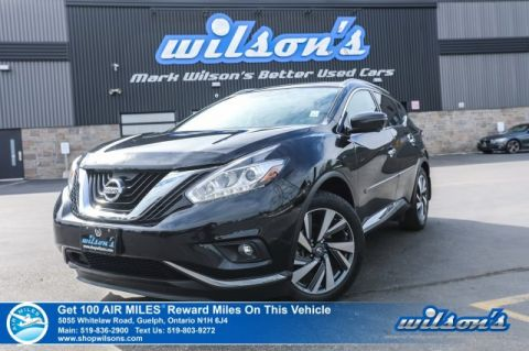 Certified Pre-Owned 2016 Nissan Murano Platinum AWD - Leather, Navigation, Sunroof, Heated + Cooled Seats, Memory Seat and more!