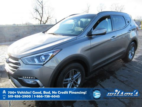 Certified Pre-Owned 2018 Hyundai Santa Fe Luxury AWD, Leather, Navigation, Panoramic Sunroof, Heated + Power Seats, Heated Steering and more!