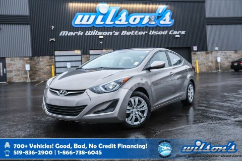 Certified Pre-Owned 2015 Hyundai Elantra GL Heated Seats, Bluetooth, Keyless Entry, Cruise Control and more!
