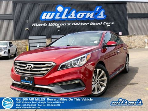 Certified Pre-Owned 2015 Hyundai Sonata Sport - Leather Trim, Navigation, Sunroof, Rear Camera, Bluetooth, Blind Spot Monitor!
