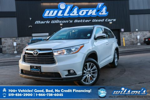 Certified Pre-Owned 2014 Toyota Highlander XLE AWD, Leather, Navigation, Sunroof, New Tires, Rear Camera, Keyless Entry and more!