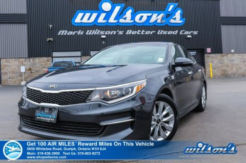 "Certified Pre-Owned 2018 Kia Optima LX+ Heated Steering & Seats, Memory Seats, Push Button Start, Rear Camera, Bluetooth, 17"" Alloys"
