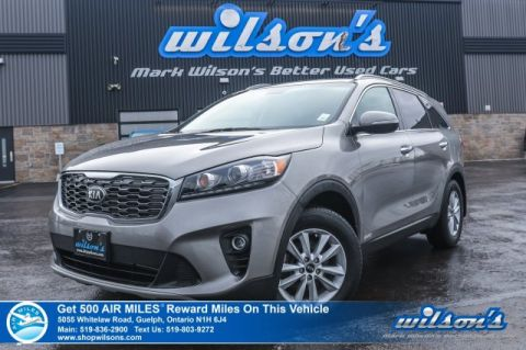 Certified Pre-Owned 2019 Kia Sorento EX AWD – 7 Passenger, Leather, Rear Camera, Bluetooth, Rear Parking Sensors, & More!