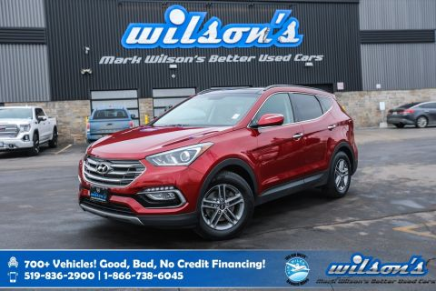Certified Pre-Owned 2017 Hyundai Santa Fe SE AWD, Leather, Sunroof, Heated Steering, Rear Camera, Blindspot Monitor, Bluetooth and more!