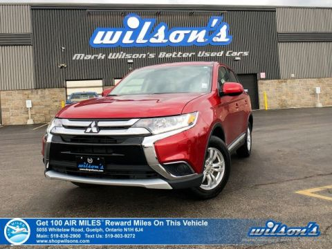 Certified Pre-Owned 2018 Mitsubishi Outlander ES 4WD – Rear Camera, Bluetooth, Apple CarPlay & Android Auto, Heated Seats, & More!