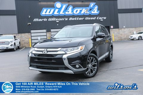 Certified Pre-Owned 2016 Mitsubishi Outlander GT 4x4 with New Tires! Leather, Sunroof, Rear Camera, Bluetooth, Heated Seats, Alloys, and more!
