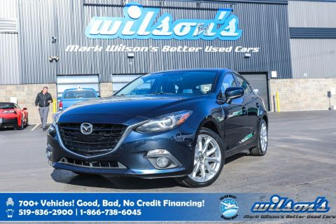 "Certified Pre-Owned 2015 Mazda3 GT Hatchback, Leather, Sunroof, Bose Speakers, Rear Camera, Bluetooth, 18"" Alloys and more!"